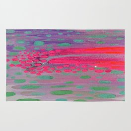 Abstract Rainfall Rug