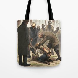 The execution of Jonas Falk Tote Bag