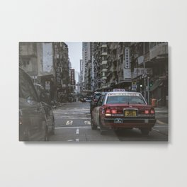 Hong Kong Street Metal Print
