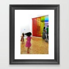 The twirl Framed Art Print