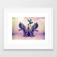 monster Framed Art Prints featuring monster by Ali GULEC