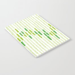 Green Triangle Arrow Trees Notebook