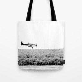 Plane Landscape Tote Bag