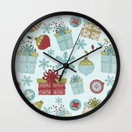 Merry Christmas-Festive gift and Christmas Bowls X-Mas Pattern Wall Clock