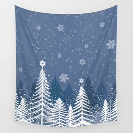 Winter Snow Forest Wall Tapestry