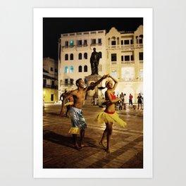 Dancer in Cartagena Art Print