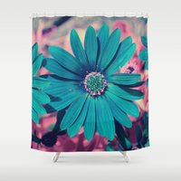 strong Shower Curtains featuring Strong by J's Corner