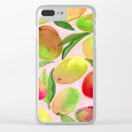 Mango Watercolor Painting Clear iPhone Case