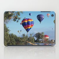 hot air balloon iPad Cases featuring Hot air balloon scene by Bruce Stanfield