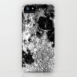 Black + White Full Moon, print by Christy Nyboer iPhone Case