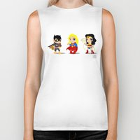 girl power Biker Tanks featuring Girl Power by Nate Kelly