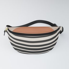 Sunset Gradient Abstract - Bold Neutral Fanny Pack