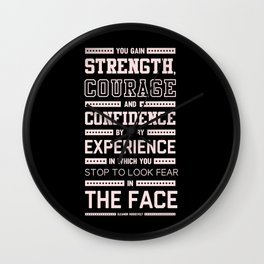 Lab No. 4 Strength Does Not Come Arnold Schwarzenegger Motivational Quote Wall Clock