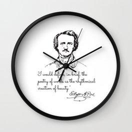Edgar Allan Poe, The Poetic Principle Wall Clock