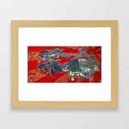 me against the world  Framed Art Print