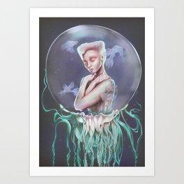 To Swim Art Print