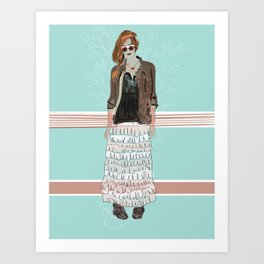 OUT OF THE WOODWORK. Art Print