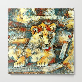 AnimalArt_Lion_20171014_by_JAMColorsSpecial Metal Print