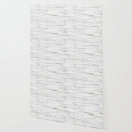 White Wooden Planks Wall Wallpaper