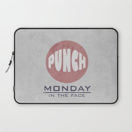 Punch Monday in the face - Red, Blue & Gray Laptop Sleeve