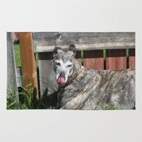 greyhound Area & Throw Rugs featuring Greyhound by Kamilla