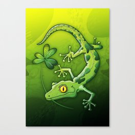 Saint Patrick's Day Gecko Canvas Print