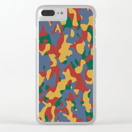 Camouflage Autumn Color - Living Hell Clear iPhone Case