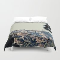 hollywood Duvet Covers featuring Hollywood  by sam may create.