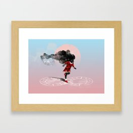Play hard Framed Art Print