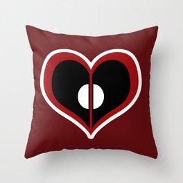 Deadpool Heart Throw Pillow