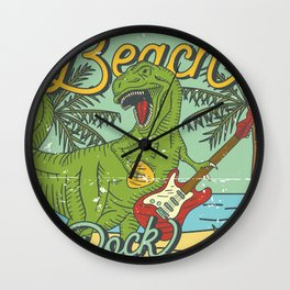 Beach Rock Party Wall Clock