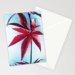 Red Leaves moments Stationery Cards