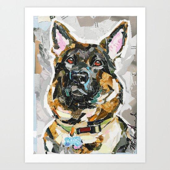 Hans the German Shepherd Art Print