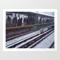 Snowy NYC Art Print