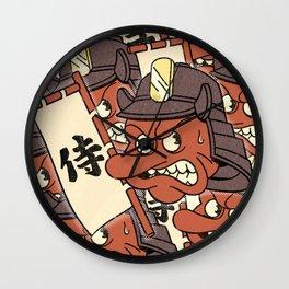 Samurai Demon Heads Wall Clock