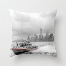 Coast Guard and NYC Throw Pillow
