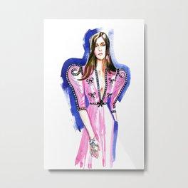 fashion #46: a pink dress Metal Print