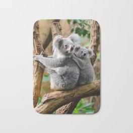 Koala mom and child Bath Mat