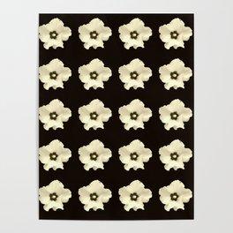 Sepia flower -bloom,blossom,petal,floral,leaves,flor,garden,nature,plant. Poster