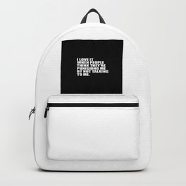 people funny quote Backpack