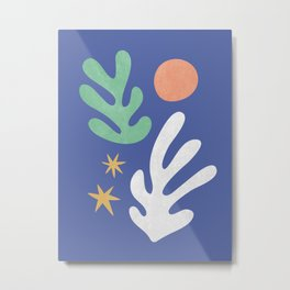 Inspired by Matisse - Seagrass and Sun 1.2  Metal Print