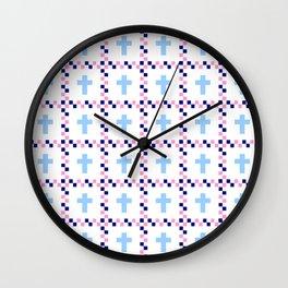 Christian Cross 44 Wall Clock