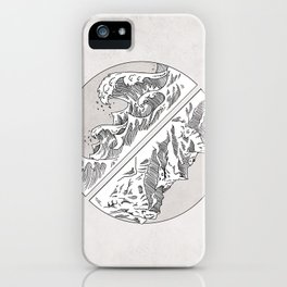 Mountains // Waves iPhone Case
