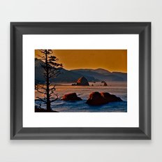 Along the Oregon Coast Framed Art Print