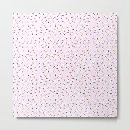 Sprinkles Pattern Metal Print