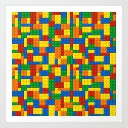 Colored Building Blocks Art Print