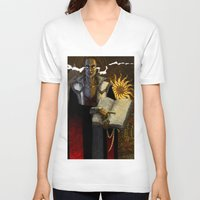 """dragon age V-neck T-shirts featuring Dragon Age - Truth by Barbara """"Yuhime"""" Wyrowińska"""