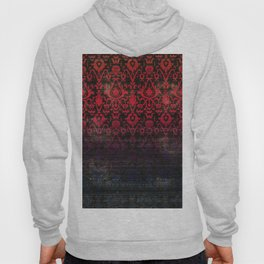 -A12- Red Blue Gardient Colored Moroccan Artwork. Hoody
