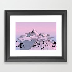 Lavender Sunset Framed Art Print