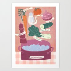 minestrone time Art Print